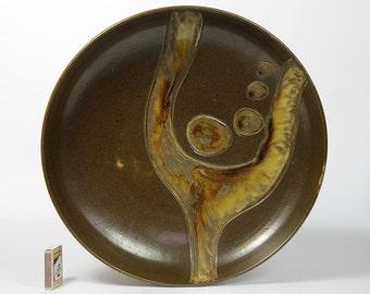 Large Ravnild Danmark Wall Relief Ceramic Plate Table Bowl Danish Modern Design Denmark 60s