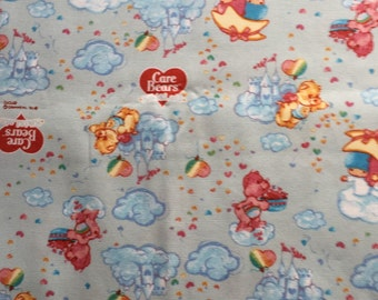Kiki&Lala and care bears corroboration fabric half yard light blue colour