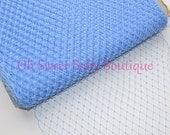 Light Blue Russian Veil Bird Cage Netting *Clearance*