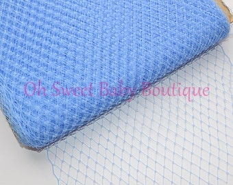 Light Blue Russian Veil Bird Cage Netting *Clearance*