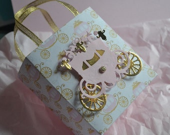 Princess party favor bags in pink and gold for any occasion
