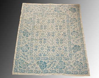 Uzbek silk hand embroidered fairy irises design suzani