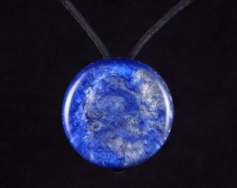 Orgone Hybrid Pendant Focal Bead.  Orgonite®  with Arkansas Crystals, Petalite, Phenacite, Elite Shungite, Tourmaline, Selenite (a45)