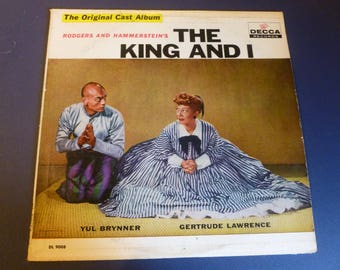 The King And I Rodgers And Hammerstein's The Original Cast Album Vinyl Record LP DL 9008 Decca Records 1951