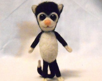 Small Needle Felted Cat Critter Cutie - Charles - Free Shipping to US and Canada