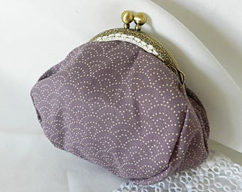 Purse purse in Japanese purple fabric