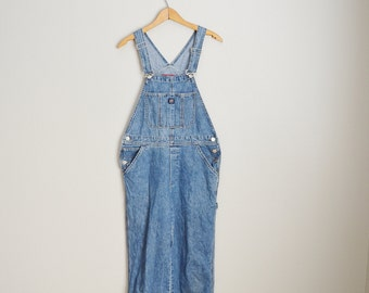 vintage denim jean union bay overalls dungarees -- womens medium