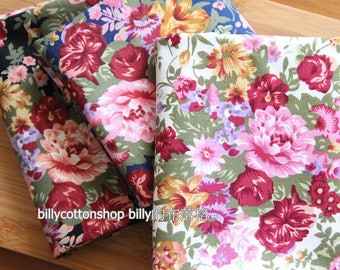 billycottonshop - m234_55 -  floral fabrics - cotton fabrics - half Yard ( 3 color to choose )