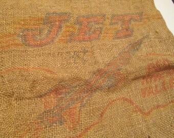 Vintage Burlap Feedsack - Potatoes - Jet - Northern Grown