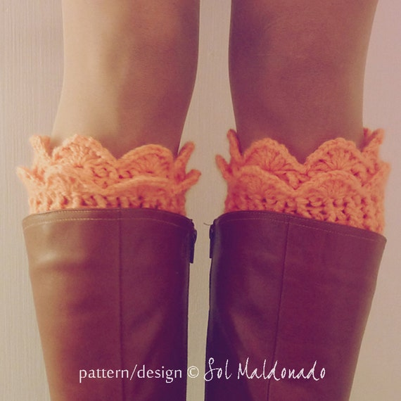 Boot Toppers Pattern Crochet PDF - Lucy Leg Warmers, boot socks, boot topper, boot cuff - Instant Download