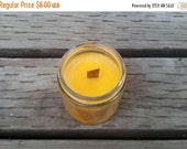 BLACK FRIDAY SALE Pumpkin Spice Soy Candle, Container Candle, Autumn Home Fragrance, 4 oz Pure Soy Candle,  Paraffin Free Candle Crackling W