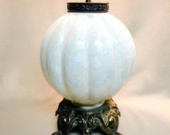 White Mother of Pearl Glass Globe Accent Lamp Light Free Shipping
