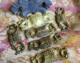 This Collection Of Antique Salvaged Tim Ornate Back Plates Are Up For The Job