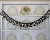 Custom order for Elizabeth-CONGRATULATIONS  GRACE Banner, Wedding Sign, Anniversary Sign, Graduation Sign, Retirement,