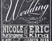 Chalkboard Wedding Invitations, Typography, Custom Wedding Invitation Listing for nicoleburlingame2