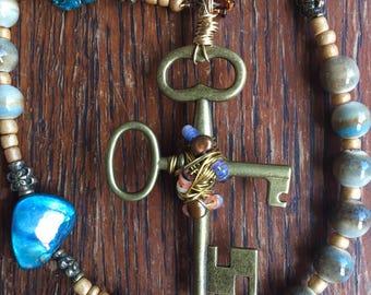 Catholic Rosary 5 Decade, Garden of Gethsemane, Holy Thursday, Blue Shell