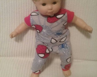 15 inch BOY doll (Modeled by Bitty Baby) Spiderman pamajas