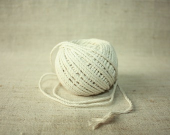 2,5 mm Cotton Twisted Cord - Great House Decor - Natural White Macrame Rope
