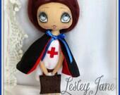 Miniature Brunette Nurse Art Doll