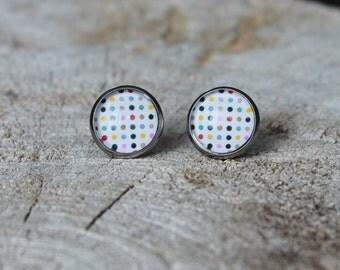 Petites merveilles picot // earrings // fait au quebec   (BO-1224)