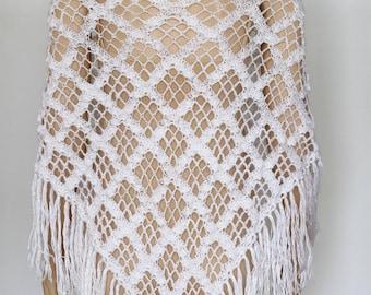 White Wedding shawl Wraps shawls  White shawl Lace Crochet shawl