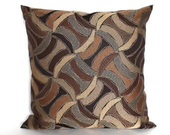Brown Pillow Cover Modern Abstract Upholstery Pillow Rust Throw Pillow Cover Decorative Pillow Floor Cushion Euro Sham 26x26 24x24 22x22