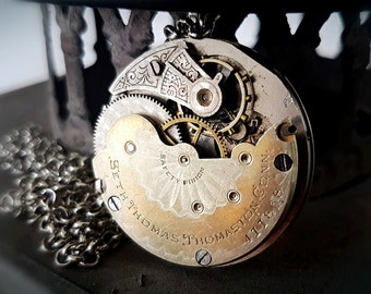 Stunning Nickel & Gilt Pocket watch Movement - Circa 1892 - Steampunk Inspired Timeless Relic