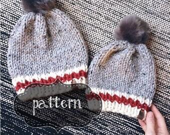 Wooly Sock Toque   Wool Sock Hat    Knit Wool Sock Toque   Knit Toque   Knit Hat
