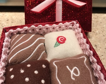 Valentine's Fine Chocolates Play Food, Ready to Ship