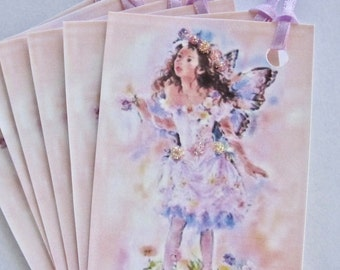 Fairy Gift Tags, Thank You, Wedding, Birthday, Hang Tags Lot of 6