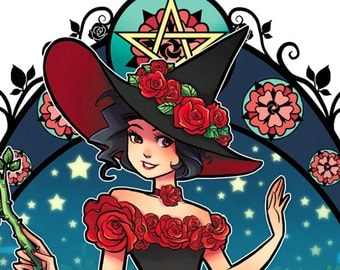 Rose Witch Notecard