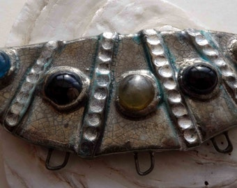 Afghan Inspired Jewelled Ceramic Necklace Connector