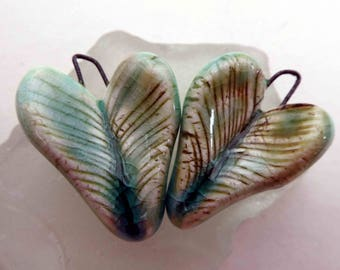 Feathery Lime Hearts