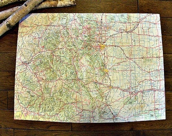 COLORADO State Map Wall Decor | Perfect Gift for any Occasion | Vintage Map | Gallery Wall | Large size