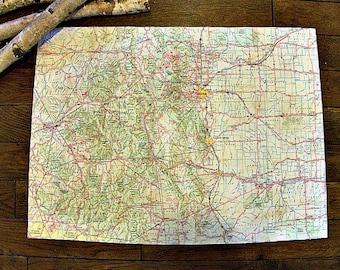 Colorado Road Map Etsy - Colorado state road map