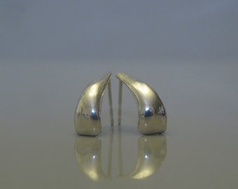 Sterling silver post earrings, Minimalist silver earrings, Simple sterling silver jewelry