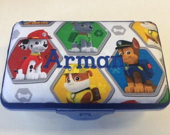 Personalized Kids School Pencil Box Case Paw Patrol