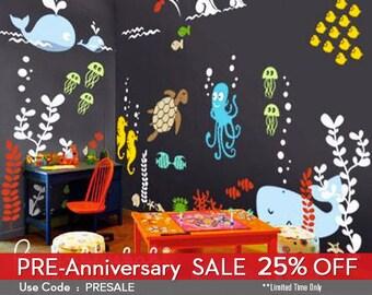 Underwater Playroom Wall Decals - Kids & Nursery Wall Decor- SALE NOW