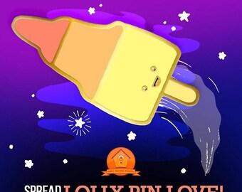 PRE ORDER Retro Ice Lolly Hard Enamel Pin Badge - Rocket - Zoom Ice Cream