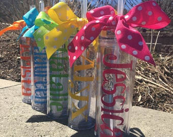 Wedding Tumblers,  Bride, Personalized Tumbler, Bridesmaid gifts, Sorority Gift, Bridal Party Gift, Bridal Party Cups, Bachelorette Party