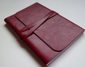 Journal Leather Journal. Leather Notebook. Leather sketchbook. Red Leather with an Antique Finish.