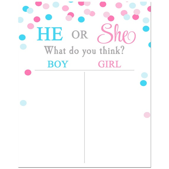 Gender reveal voting tally sheet printable instant download gender reveal voting tally sheet printable instant download gender reveal confetti collection pronofoot35fo Image collections