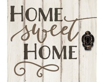 Home Sweet Home Barn Door Sign - Pallet Sign - Engraved Wood Sign - Wedding Gift - Home Sweet Home Vintage Wall Sign - Housewarming Gift