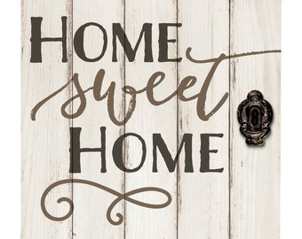 Home Sweet Home Vintage praise him in the hallway barn door sign pallet sign