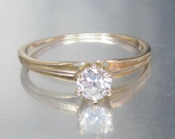 Antique (Dated 1902) Diamond Engagement Ring 14K