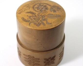 Vintage Carved Wooden Stash Box