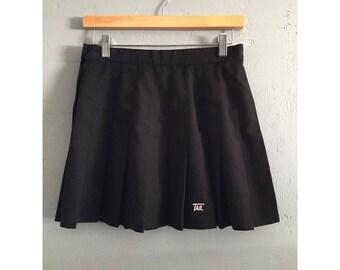 """90s Black Pleated Tennis Skirt, 28"""" Waist"""