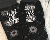 Star Wars Imperial Socks - Mens Socks - Star Wars Gift - Man Gift - Funny Socks - Secret Santa Gift - Groom Socks - Mens Christmas Gift