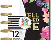 Mini Happy Planner WELL PLANNED LIFE Me & My Big Ideas 12 month Laminated Covers Disc bound Tabbed Divider inserts Calendar pages Create 365