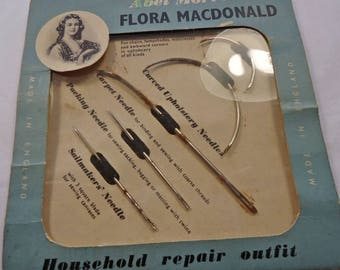 Vintage/antique packet of Flora Madconald Household needles - antique ephemera / sewing notions (Ref V47)